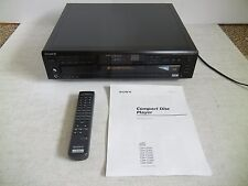 Sony 5 Disc CD Changer w/ Remote & A/V Cable CDP-CE505