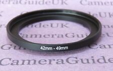 42mm to 49mm Male-Female Stepping Step Up Filter Ring Adapter 42mm-49mm
