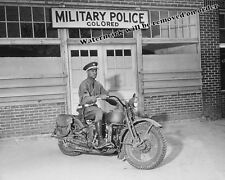 Photograph WWII Military Police Army Motorcycle Year 1942  8x10