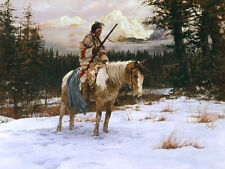 Howard Terpning THE LONELY SENTINEL, Native American, giclee canvas #422/450