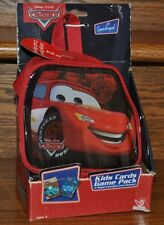 Disney Pixar Cars Kids Cards Game Pack and Bag 2 Games War and Crazy Eights  NEW