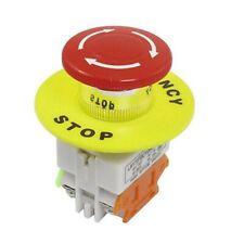 Signo Rojo Seta 1NO 1NC 10A 660V Botón Interruptor De Parada De Emergencia Impermeable