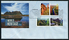 2010 World Heritage Sites FDC First Day Cover Stamps Australia