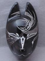 Japanese fox mask Miyazima kitsune Blue