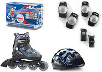 Fila X-One Combo Set Boy Jungen Inline Skates mit Schutz Camo Gr. L (35-38)