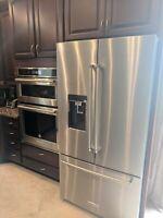 """KitchenAid KRFC704FSS 36"""" Counter Depth French Door Refrigerator Stainless Steel"""