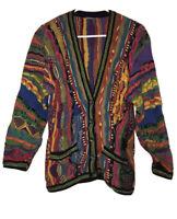 VTG 90s COOGI Australia Unisex Small Cosby BIGGIE Bright Sweater Cardigan