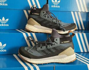 Adidas Terrex Free Hiker Gore-Tex Blue Black Trainers Shoes UK 8.5 EU 42 2/3