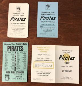 Lot of 4 Niagara Falls Pirates Schedules 1975,76,77,78 Hyde Park Stadium