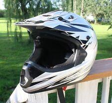Pure Polaris Silver, Blk & Wh Open Face Helmet TX-10 XL 61-62cm Polycarbonate