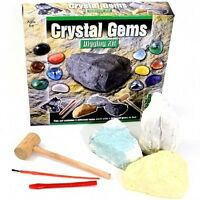 Crystal Gems Digging Mining Excavation Kit Gemstones Set Educational Kids Toy