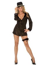 Gold Digger Gangster 4pc 1X/2X 16 18 20 UK Fancy Dress Hen Night Mobster