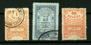 Bosnia   TAXE REVENUE    Good set stamps  VF used (963)