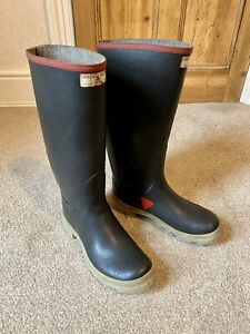 Very Rare Uniroyal Super Argyll Rubber Wellies,wellingtons Size 7/41 Fetish Int