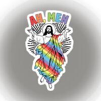 Ah Men GAY Jesus lgbtq pride Sticker decal car laptop