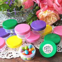 20 Wide Mouth 1 ounce Container Color Caps Party Favor Jars 5303 USA Reusable