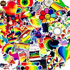 60 Rainbow Skateboard Stickers Car Laptop Luggage Decals Dope Sticker Girls Boys