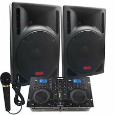 Starter Dj System - 1600 WATTS - Connect your Laptop, iPod, USB, MP3's or Cd's!
