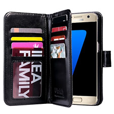 Galaxy S7 Case, ULAK Magnetic Premium PU Leather Wallet Case Flip Stand Cover wi