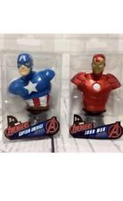 Marvel Avengers Captain America Iron Man Paper Weight Mini Bust Figures NEW