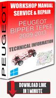 Service Workshop Manual & Repair PEUGEOT BIPPER TEPEE 2009-2013 +WIRING DOWNLOAD