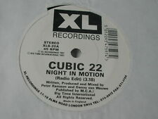 """CUBIC 22 - NIGHT IN MOTION - XL RECORDINGS 7"""""""
