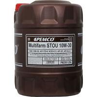 Original PEMCO 1x20 Liter 10W-30 Multifarm Öl Motoröl PM2501-20