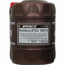 20l Pemco 10w-30 Multifarm aceite de motor Pm2501-20 lavado Flusch