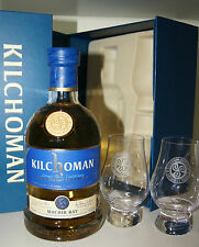 KILCHOMAN Machir Bay 46% Gift Pack + 2 Glen Cairn Gläser in Box 2015 0.7L