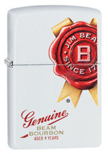 ZIPPO LIGHTER WHITE MATTE GENUINE JIM BEAM (99385) GIFT BOXED - AU STOCK !
