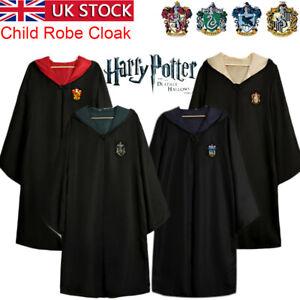 Child Harry Potter Robe Cloak Gryffindor Ravenclaw Slytherin Hufflepuff Costumes