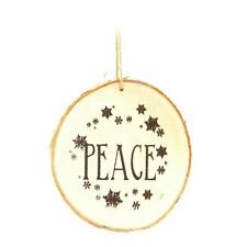 10cm Wooden Peace Hand Crafted Christmas Tree Hanging Xmas Ornaments Decorations