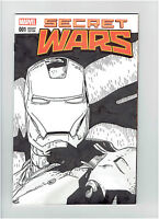 SECRET WARS #1 IRON MAN ORIGINAL ART SKETCH 2015