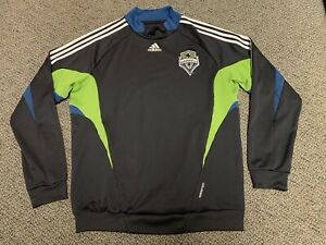 2008 2009 Seattle Sounders FC Warm Up Shirt Sweatshirt Top Adidas XL Jersey Mls