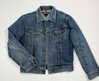 Meltin pot jeremy jacket jeans uomo usato XL giacca giubbotto destroyed T6351