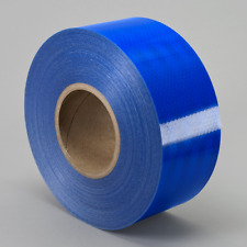 """3M 3435 Engineer Grade Prismatic Reflective BLUE CONSPICUITY TAPE 2-1/2"""" x 5yd"""