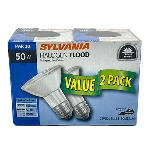 SYLVANIA 2-PACK 50W Halogen Flood Lamp Light Bulbs PAR20 E26 Capsylite