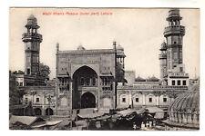 More details for wazir khan's mosque - lahore photo postcard c1905 / pakistan