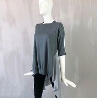 Stella McCartney Grey Floaty Summer Silk Wool Sweater Jumper Tunic Blouse Top S