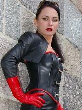 Womens100% Genuine Lambskin Leather Corp Moto Bolero Shurg Biker Jacket Slim Fit