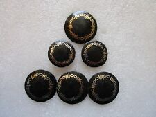 WESTERN HORSE BARREL SADDLE BLACK CONCHO BARBED WIRE ROUND CONCHOS SCREW BACK