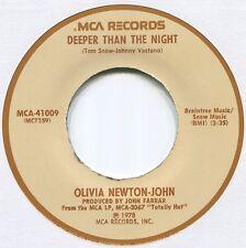 "OLIVIA NEWTON-JOHN ~ DEEPER THAN THE NIGHT ~ 1978 US 7"" SINGLE ~ MCA 41009"