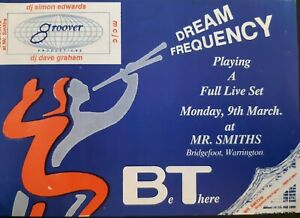 """BeThere """"dream frequency"""" 9.3.92  @ mr.smiths warrington rave flyer"""