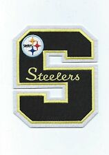 """Pittsburgh Steelers 5"""" high Embroidered Letter S Patch (Iron or Sew On)"""