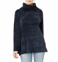 Lucky Brand Womens XL Navy Chenille Cowl Neck Long Sleeve Sweater NEW