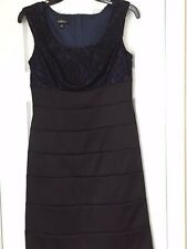 Ladies' petite lace overlay formal dress
