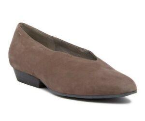 Eileen Fisher Sabin Pump Womens Nubuck Leather Slip On Ballet Flat Dust Size 7.5