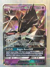 POKEMON card  # Necrozma GX # MEGA GX Rara Secret Holo •ITA SM58  Sole E Luna