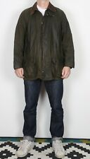 "BARBOUR Beaufort Wax Jacket Chest 44"" Large XL Green (K1Q)"