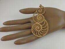 """Vintage Turkish Nautilus Gold Vermeil 925 Multi Shell Skeleton Pendant Huge! 5"""""""